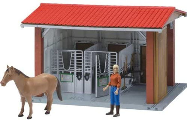 Bruder World Stable W/Figure & Access.
