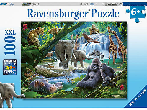 Ravensburger Jungle Families XXL 100pc Jigsaw Puzzle