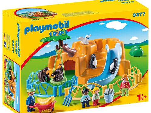 Playmobil 1.2.3 9377 Zoo with Penguin Enclosure
