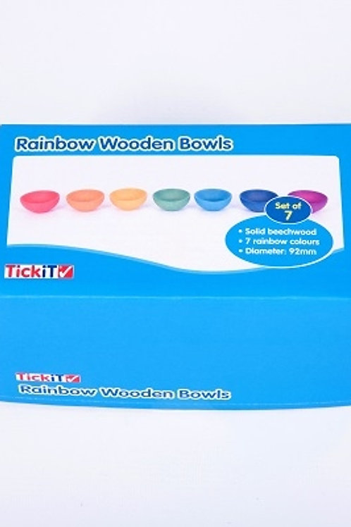 TickiT Rainbow Wooden Bowls
