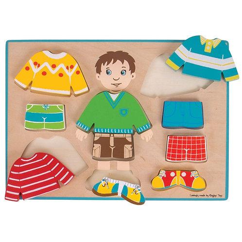BigJigs Dressing Boy Puzzle