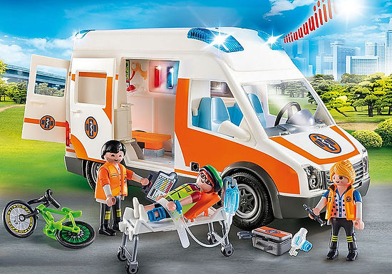 Playmobil 70049 Ambulance with Flashing Lights