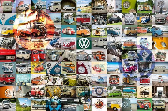 Ravensburger 99 VW Campervan Moments, 3000pc Jigsaw puzzle