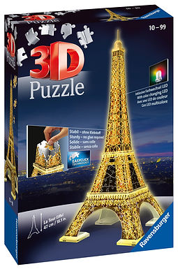 Ravensburger Eiffel Tower Night Edition 3D Puzzle , 216pc  Jigsaw Puzzle