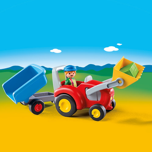 Playmobil 1.2.3 6964  Tractor with Trailer