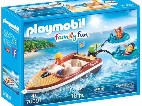 Playmobil 70091 Family Fun Campsite Floating Speedboat