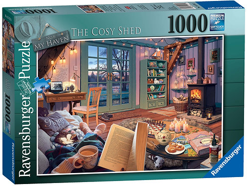 Ravensburger My Haven No 6, The Cosy Shed 1000pc Jigsaw Puzzle