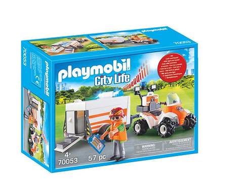 Playmobil 70053 City Life Hospital Emergency Quad and Trailer