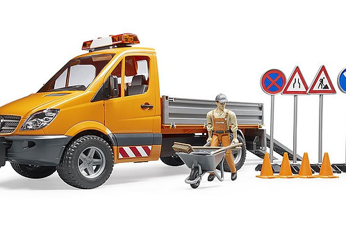 Bruder MB Sprinter With Figure & Accessories