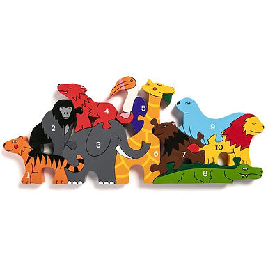 Number Zoo Jigsaw Puzzle - Alphabet Jigsaws