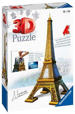 Ravensburger Eiffel Tower Building 3D Puzzle, 216pc  Jigsaw Puzzle