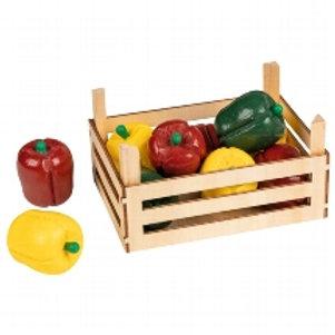 Goki Peppers In Vegetable Crate