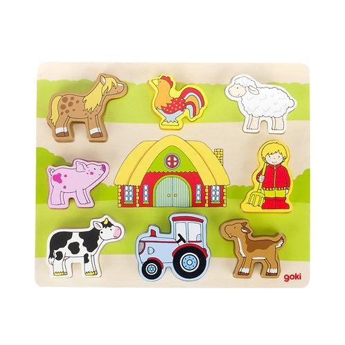 Goki Puzzle Our Farm