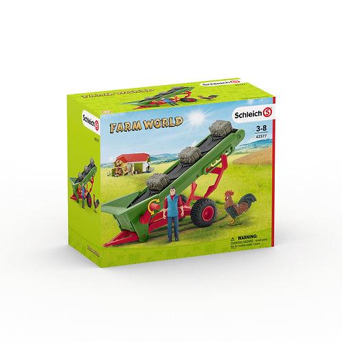 Schleich Hay Conveyor With Farmer