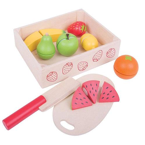 BigJigs Cutting Fruit Crate