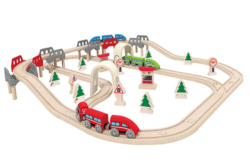 HAPE High & Low Train Set