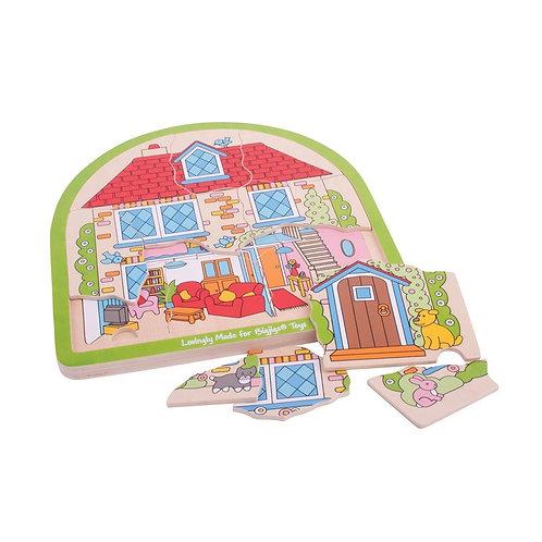 BigJigs House Arched Puzzle
