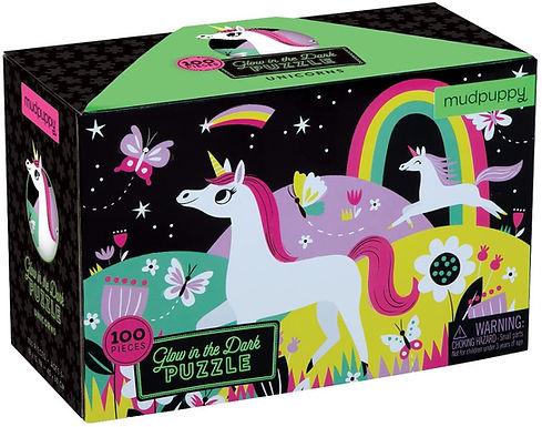 Mudpuppy's Unicorns Glow-In-the-Dark Puzzle