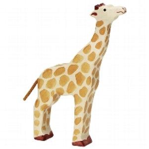 Holztiger Giraffe, Head Raised