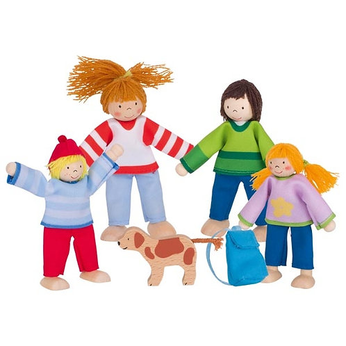 Goki Flexible Puppets Camping Family