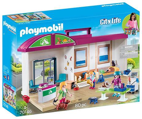 Playmobil 70146 City Life Take Along Vet Clinic