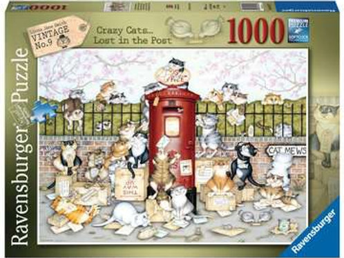 Ravensburger Crazy Cats Vintage No.9 - Lost in the Post 1000pc Jigsaw Puzzle