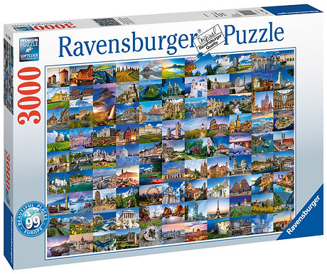 Ravensburger 99 Beautiful Places in Europe, 3000pc Jigsaw Puzzle