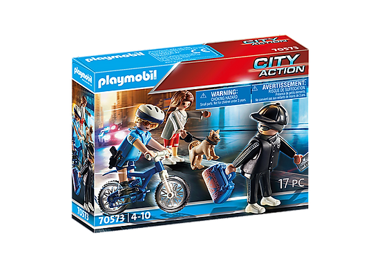 Playmobil 70573 City Action Police Bicycle with Thief