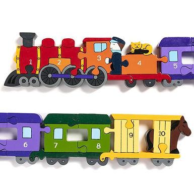 Number Train Jigsaw Puzzle - Alphabet Jigsaw
