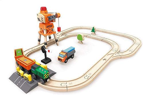 Hape Crane & Cargo Train Set