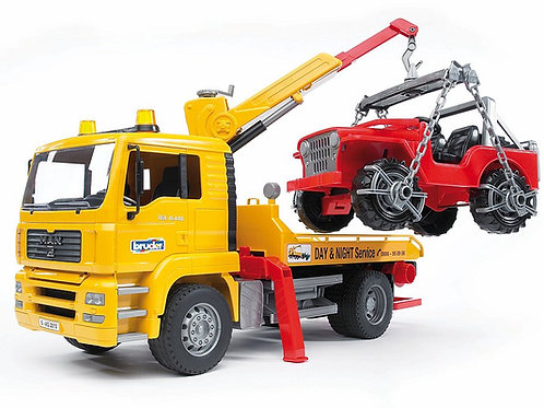 Bruder Man TGA Breakdown Truck W/Cross-Country Vehicle