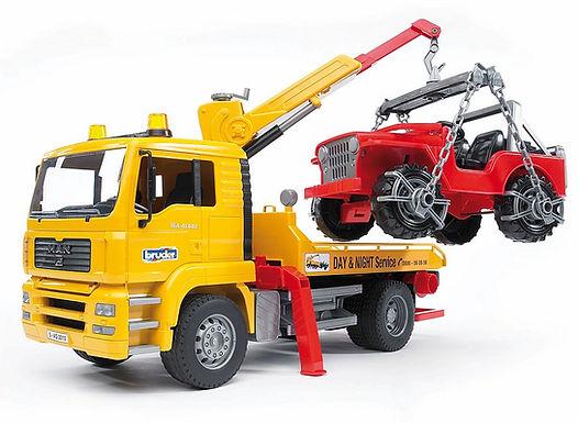 Bruder Man TGA Breakdown Truck W/Cross-Country Vehicle