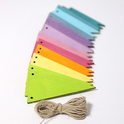 Grimms Pennant Banner Pastel