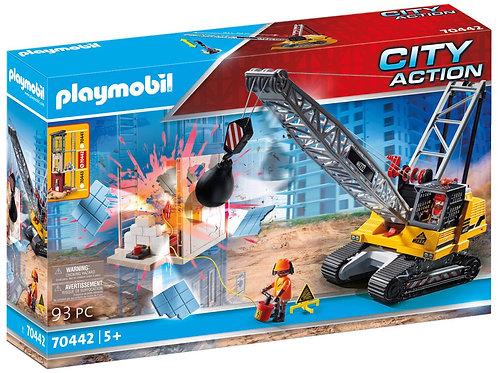 Playmobil 70442 City Action Construction Demolition Crane