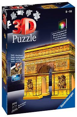Ravensburger Arc De Triomphe Night Edition 3D Puzzle, 216 pieces  Jigsaw Puzzle