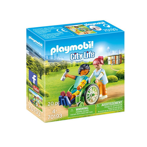 Playmobil 70193 City Life Hospital Patient in Wheelchair