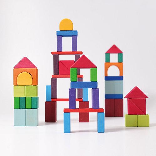 Grimms 60 Colorful Geo-Blocks