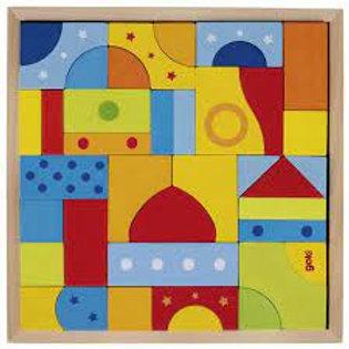 Goki Mosaic Puzzle, Glazed Colours
