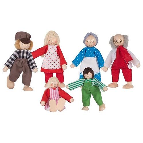 Goki Flexible Puppets Farmer's Family