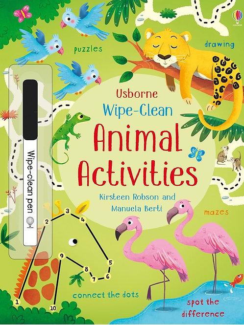 Books - Wipe Clean Animal Activities