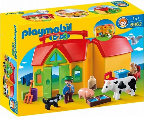 Playmobil 1.2.3 6962 Take Along Farm with Sorting Function