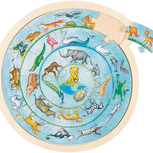 Goki Puzzle Animal Circle