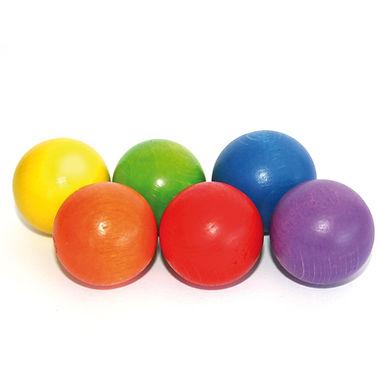 Erzi Marble Set 6 Wooden Balls