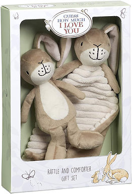Rainbow Designs Guess How Much I Love You Rattle & Comforter Gift Set