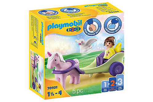 Playmobil 1.2.3 70401  Unicorn Carriage with Fairy