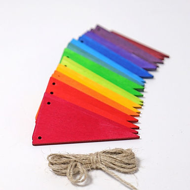 Grimms Pennant Banner Rainbow
