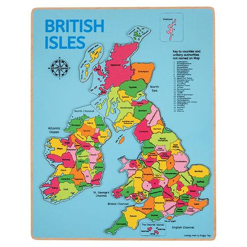 BigJigs British Isles Inset Puzzle