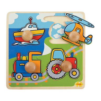 BigJigs My First Peg Puzzle - Transport