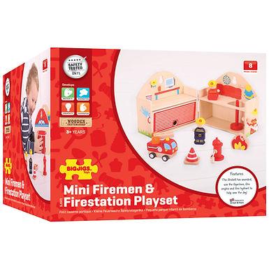 BigJigs Mini Firestation Playset