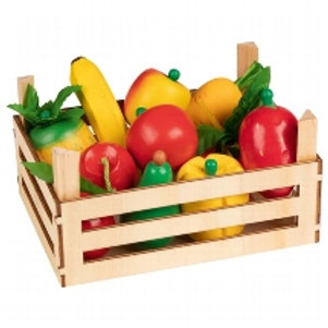 Goki Fruit And Vegetables In Crate,